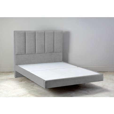 Waft 5' King Size Bed Frame In Silver Spoon