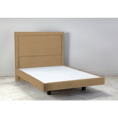 """Hover 4'6 Double Size Bed Frame In Ginger Tea"""""""