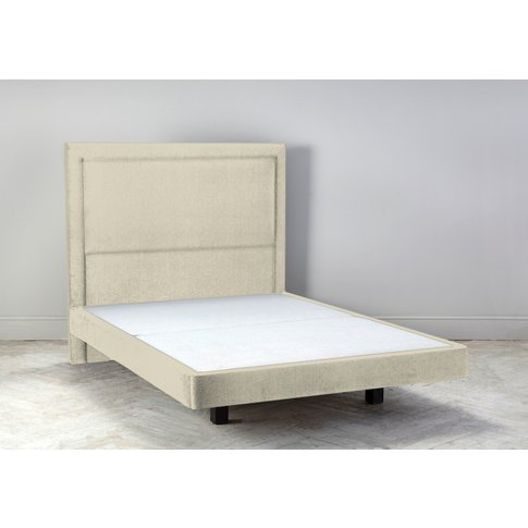 Hover 5' King Size Bed Frame In Chantilly Cream