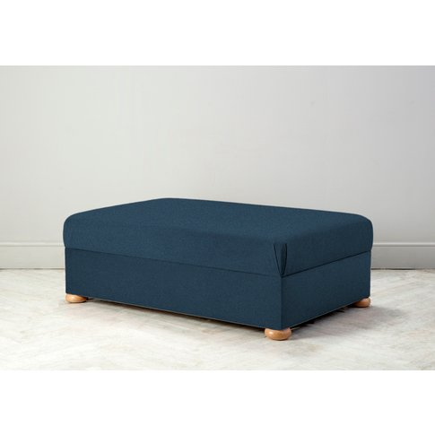 Hyde Bed In A Box, Small In Oxford Blue