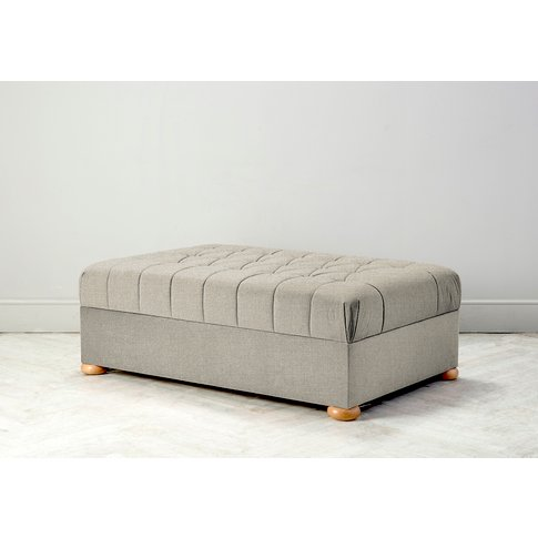 Hyde Buttoned Bed In A Box, Small In Bone Grey