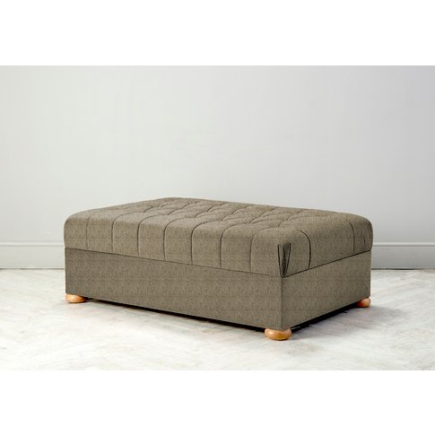 Hyde Buttoned Bed In A Box, Small In Limestone