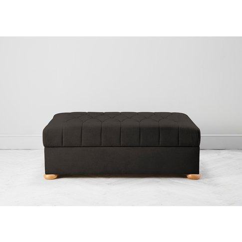 Hyde Buttoned Bed In A Box, Large In Mocha