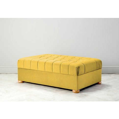 Hyde Buttoned Bed In A Box, Large In Summer Buttercup