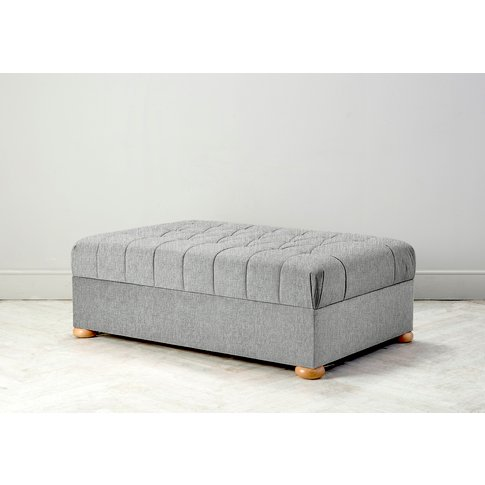 Hyde Buttoned Bed In A Box, Large In The Great White