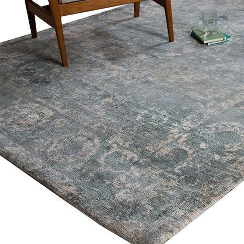 Rosco Teal Persian Rug, Extra Large