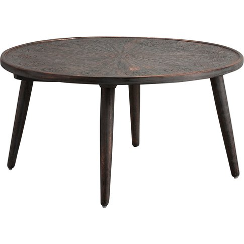 Payzac Patterned Grey Coffee Table