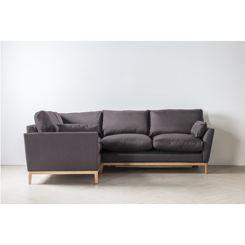 Nora Left Hand Chaise Sofa Bed In Damson In Distress