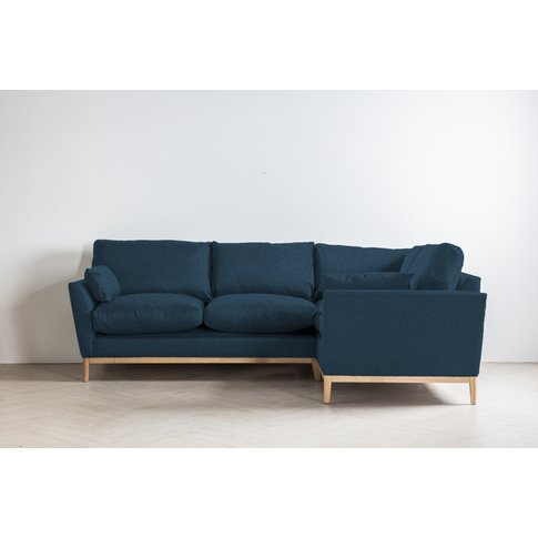 Nora Left Hand Chaise Sofa Bed In Oxford Blue