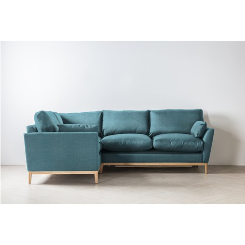 Nora Left Hand Chaise Sofa Bed In Tide Turning