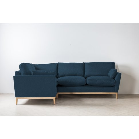 Nora Right Hand Chaise Sofa Bed In Oxford Blue