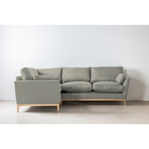 Nora Right Hand Chaise Sofa Bed In Silver Weave