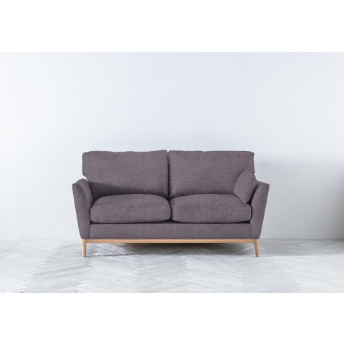 Nora Three-Seater Sofa In Violet Leaf