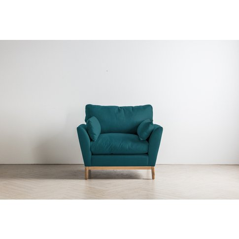 Nora Armchair In Steel Blue
