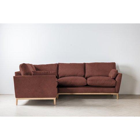 Nora Left Hand Chaise Sofa In Cinnamon Latte