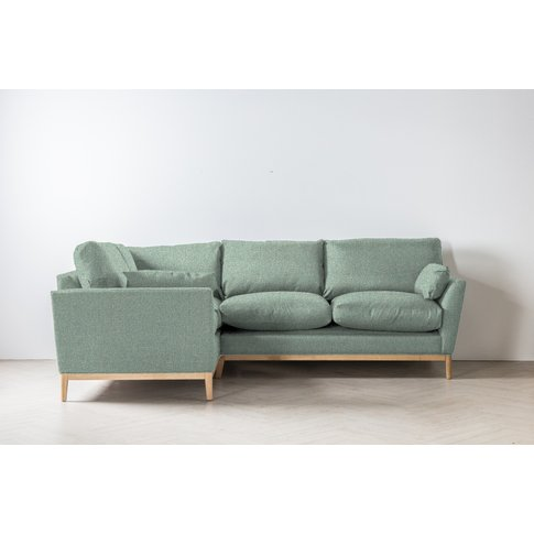 Nora Right Hand Chaise Sofa In Thyme Green