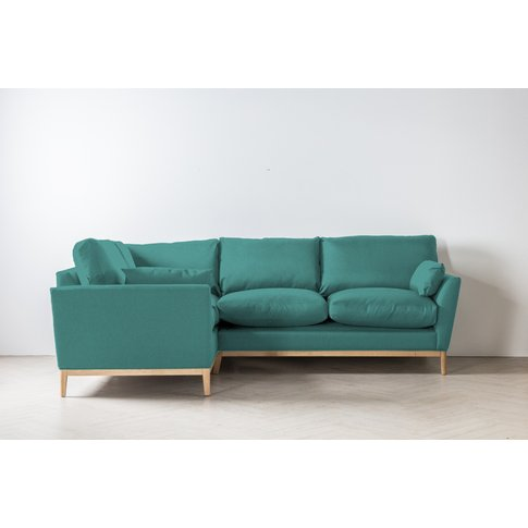 Nora Right Hand Chaise Sofa In Turkish Blue