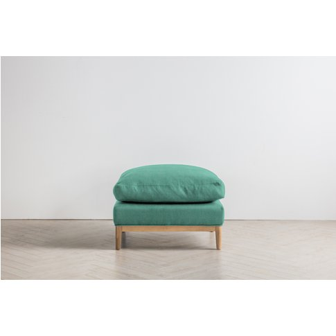 Nora Footstool In Fresh Mint