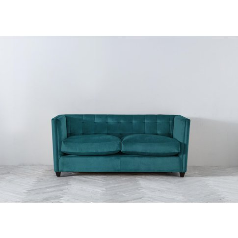 Lia Three-Seater Sofa In Steel Blue