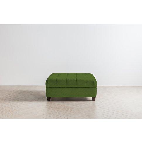 Lia Footstool In Juniper Green