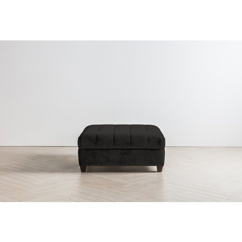 Lia Footstool In Obsidian Black
