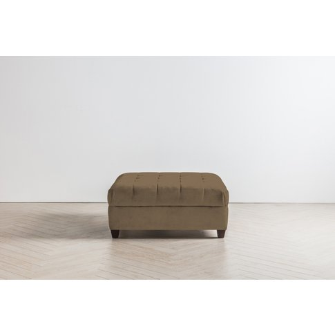 Lia Footstool In Saddle Brown