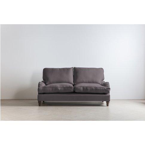 Robyn Three-Seater Sofa In Damson In Distress