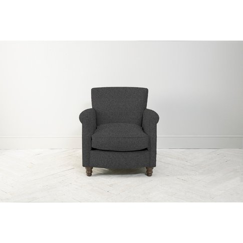 Robyn Armchair In Crow Black