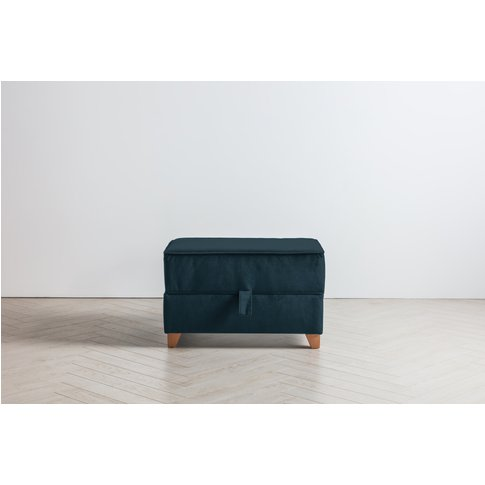 Ethan Storage Ottoman In Peace Pipe