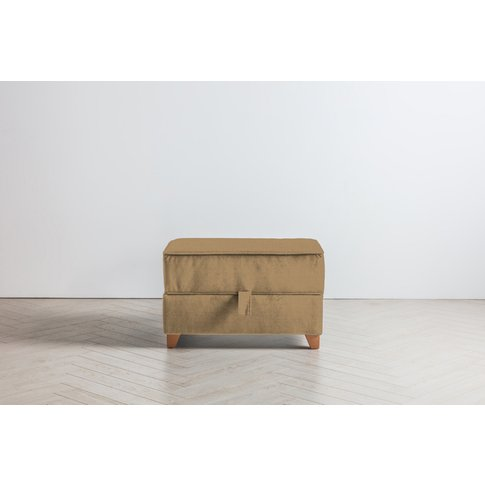 Ethan Storage Ottoman In Ginger Tea