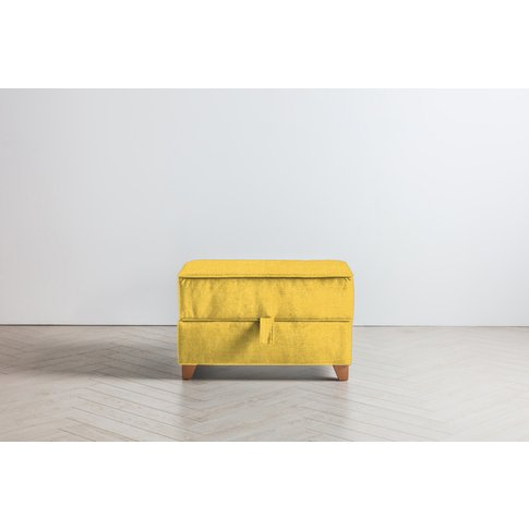 Ethan Storage Ottoman In Summer Buttercup