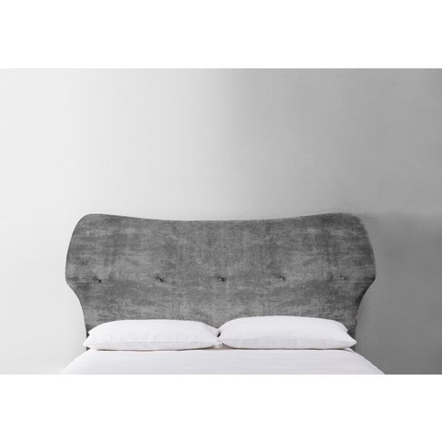 Jean 5' King Size Headboard In Cloudy Grey