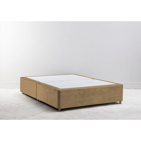 Buxton 3' Single Size Bed Base In Ginger Tea