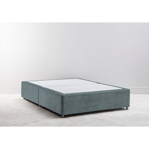 """Buxton 4'6 Double Size Bed Base In Caspian Blue"""""""