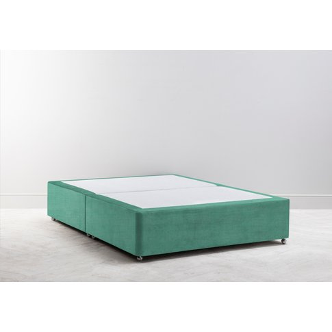 Buxton 4'6'' Double Size Bed Base In Fresh Mint