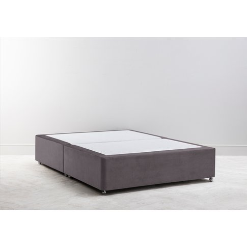 Buxton 4'6'' Double Size Bed Base In Damson In Distress
