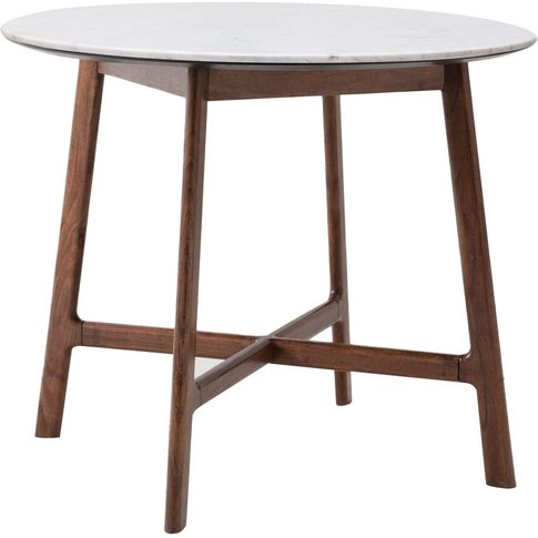 Palma Acacia And Marble Round Dining Table