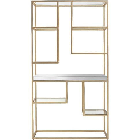 Damsay Display Shelving Unit In Champagne