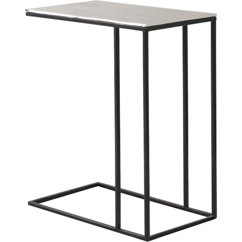 Stark Metal Side Table In Antique Silver