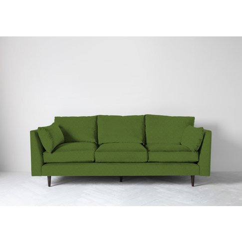 Roman Three-Seater Sofa In Juniper Green