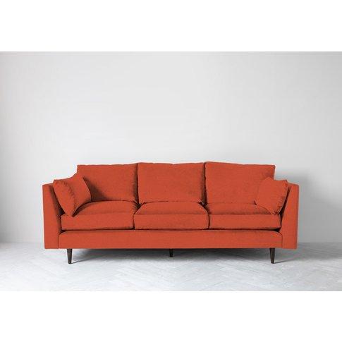 Roman Three-Seater Sofa In Marmalade Orange
