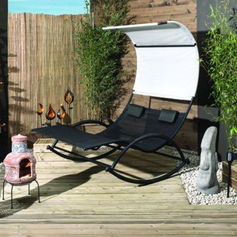 Makana Double Rocker Garden Sun Lounger