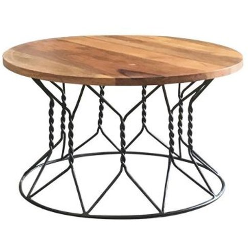 Ravi Solid Wood Round Coffee Table
