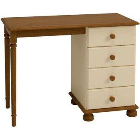 Barnaby Dressing Table Cream & Pine 4 Drawer