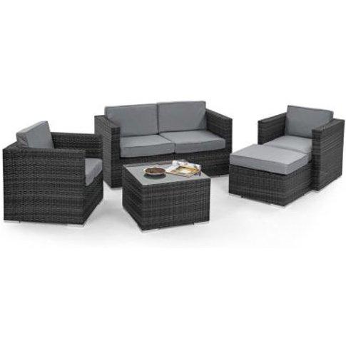 5 Piece 2 Seat Ice Bucket Garden Sofa Set Grey