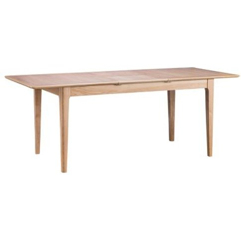 Bayview Extending Dining Table Oak 6 Seater