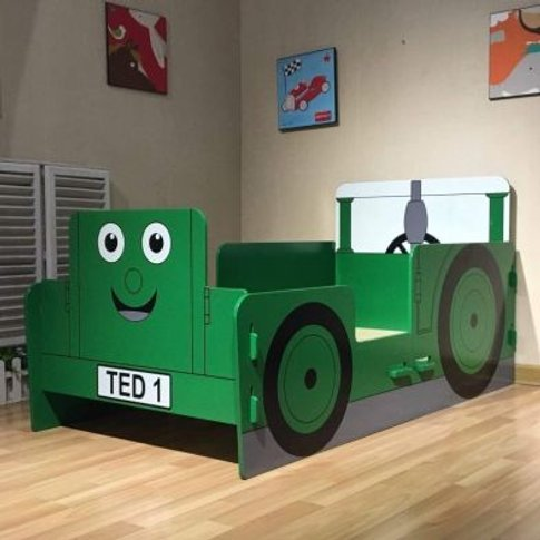 Kidsaw Kids Bed 2ft 6in Tractor Ted Junior Toddler B...