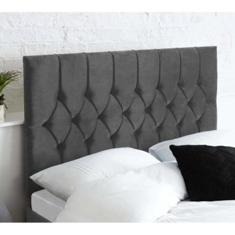 Catherine Lansfield Headboard Grey Double