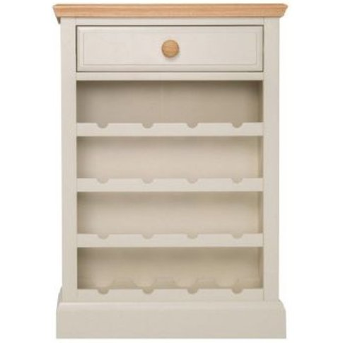 Country Cottage Oak 1 Drawer Wine Cabinet