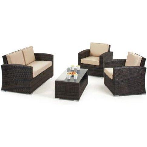 Kingston 2 Seat Garden Sofa Set Brown